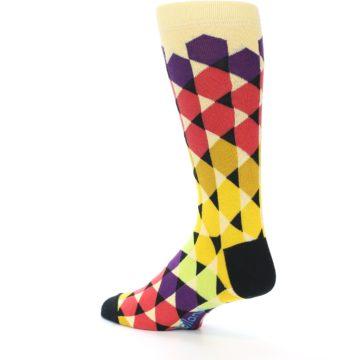 Image of Multi-Color Triangles Men's Dress Socks (side-2-back-14)