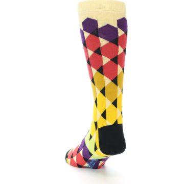 Image of Multi-Color Triangles Men's Dress Socks (side-2-back-16)