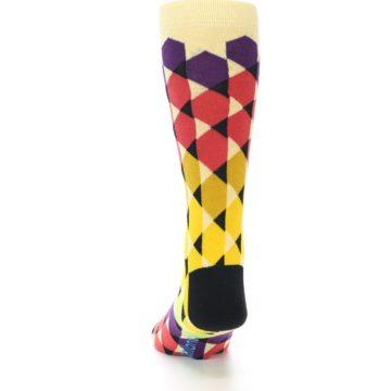 Image of Multi-Color Triangles Men's Dress Socks (back-17)