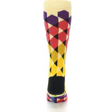 Image of Multi-Color Triangles Men's Dress Socks (back-18)