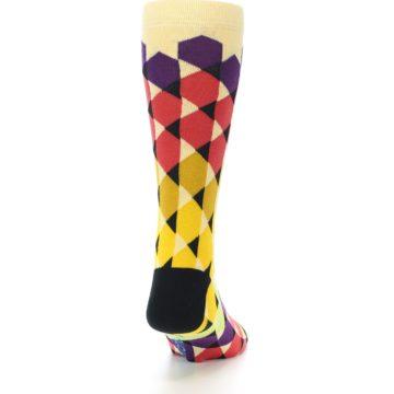 Image of Multi-Color Triangles Men's Dress Socks (back-19)