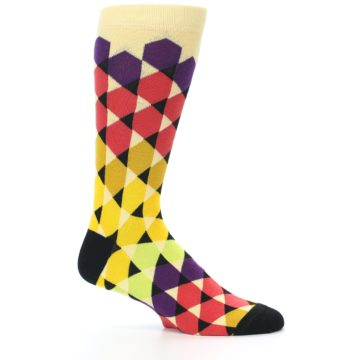 Image of Multi-Color Triangles Men's Dress Socks (side-1-25)