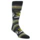 Image of Black Grey Yellow Stripe Pattern Men's Dress Socks (side-1-front-01)