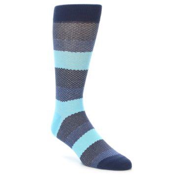 21921-Blues-Navy-Stripe-Men's-Dress-Socks-Richer-Poorer01