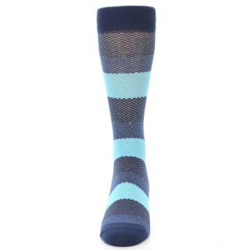 Image of Blues Navy Stripe Men's Dress Socks (front-05)
