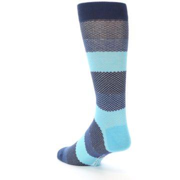 Image of Blues Navy Stripe Men's Dress Socks (side-2-back-15)