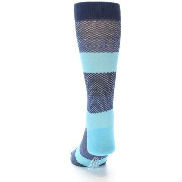Image of Blues Navy Stripe Men's Dress Socks (back-17)