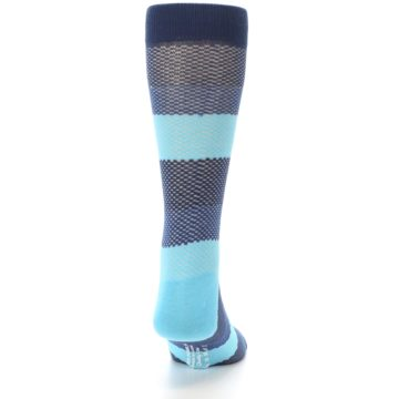 Image of Blues Navy Stripe Men's Dress Socks (back-19)