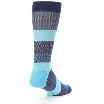 Image of Blues Navy Stripe Men's Dress Socks (side-1-back-21)