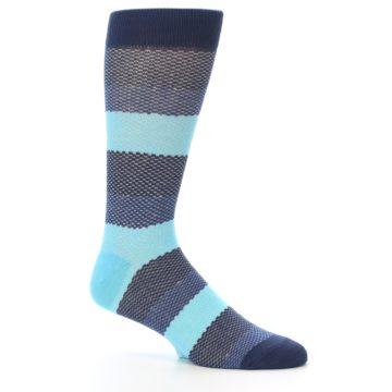 Image of Blues Navy Stripe Men's Dress Socks (side-1-26)