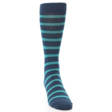 21924-Dark-Blue-Teal-Stripe-Men's-Dress-Socks-Richer-Poorer
