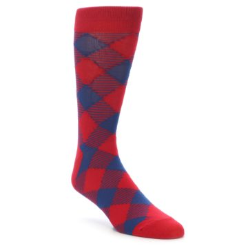 21925-Red-Navy-Diamonds-Men's-Dress-Socks-Richer-Poorer01