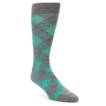 21926-Grey-Teal-Diamonds-Men's-Dress-Socks-Richer-Poorer01