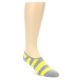 Image of Grey Yellow Men's No-Show Socks 2 Pack (side-1-front-02)