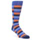 Image of Orange Navy Blue Checkered Men's Dress Socks (side-1-front-01)