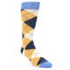 Image of Orange Cream Navy Argyle Men's Dress Socks (side-1-front-01)