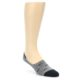 Image of Grey Black Sharks Men's No-Show Socks (side-1-front-01)