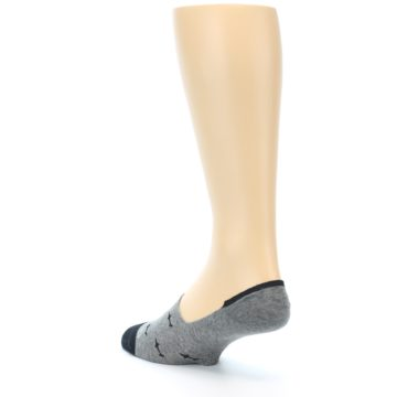 Image of Grey Black Sharks Men's No-Show Socks (side-2-back-15)
