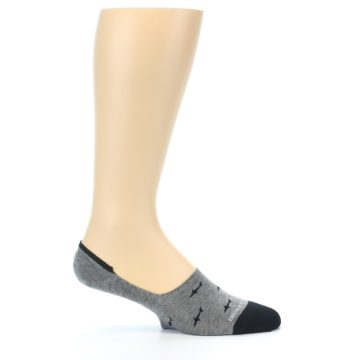 Image of Grey Black Sharks Men's No-Show Socks (side-1-25)