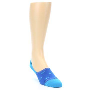 Image of Blue Sharks Men's No-Show Socks (side-1-front-02)