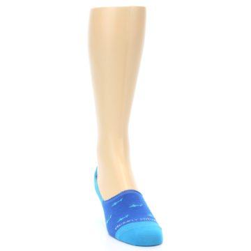 Image of Blue Sharks Men's No-Show Socks (side-1-front-03)