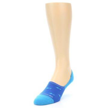 Image of Blue Sharks Men's No-Show Socks (side-2-front-07)