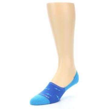Image of Blue Sharks Men's No-Show Socks (side-2-front-08)