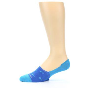 Image of Blue Sharks Men's No-Show Socks (side-2-11)