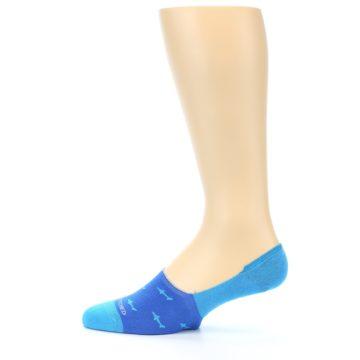 Image of Blue Sharks Men's No-Show Socks (side-2-12)