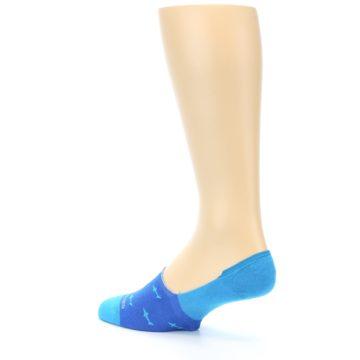 Image of Blue Sharks Men's No-Show Socks (side-2-back-14)
