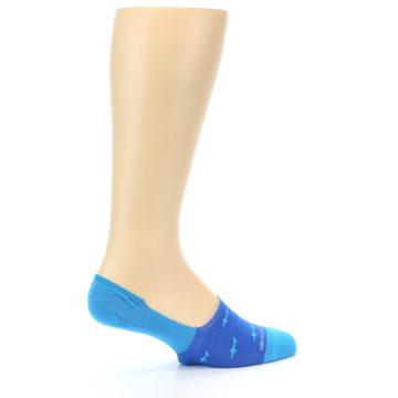 Image of Blue Sharks Men's No-Show Socks (side-1-23)