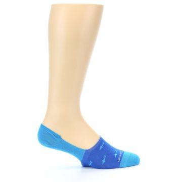 Image of Blue Sharks Men's No-Show Socks (side-1-24)