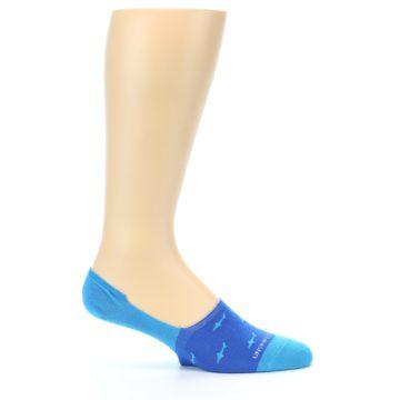 Image of Blue Sharks Men's No-Show Socks (side-1-25)