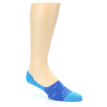 Image of Blue Sharks Men's No-Show Socks (side-1-26)