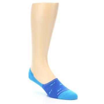 Image of Blue Sharks Men's No-Show Socks (side-1-27)