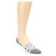 Image of Grey Polka Dot Men's No-Show Socks (side-1-front-01)