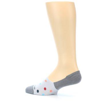 Image of Grey Polka Dot Men's No-Show Socks (side-2-13)