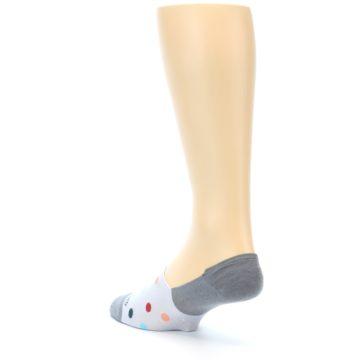 Image of Grey Polka Dot Men's No-Show Socks (side-2-back-15)
