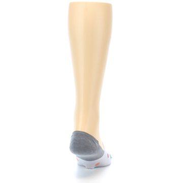 Image of Grey Polka Dot Men's No-Show Socks (back-19)