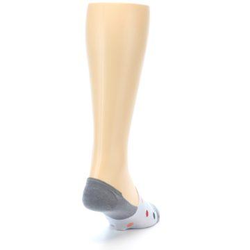 Image of Grey Polka Dot Men's No-Show Socks (side-1-back-20)