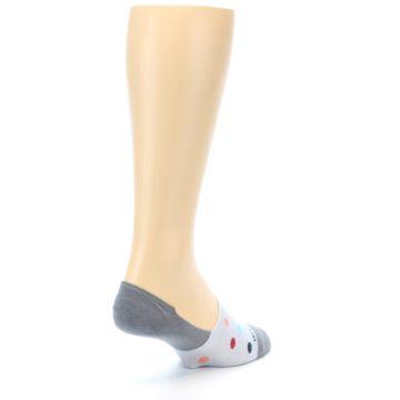Image of Grey Polka Dot Men's No-Show Socks (side-1-back-21)