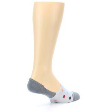Image of Grey Polka Dot Men's No-Show Socks (side-1-back-22)
