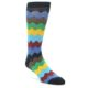 Image of Multi-Color Zig-Zag Stripe Men's Dress Socks (side-1-front-01)