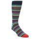 Image of Black Multi-Color Stripes Men's Dress Socks (side-1-front-01)