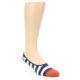 Image of Sailor Stripe Men's No-See-Um 2 Pack Socks (side-1-front-02)