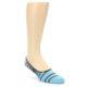 Image of Grey Blue Stripe Men's No-See-Um 2 Pack Socks (side-1-front-03)