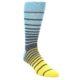 Image of Yellow Blue Grey Stripe Men's Dress Socks (side-1-front-01)