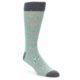 Image of Green Grey Stripe Men's Dress Socks (side-1-front-01)