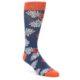 Image of Navy Tropical Flowers Men's Dress Socks (side-1-front-01)