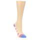 Image of Pink Navy Stripe Women's No-See-Um 2 Pack Socks (side-1-front-02)